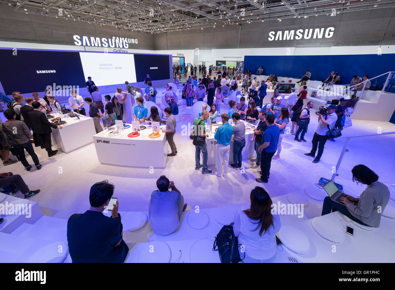 Busy Samsung stand at 2016  IFA (Internationale Funkausstellung Berlin), Berlin, Germany - Stock Image