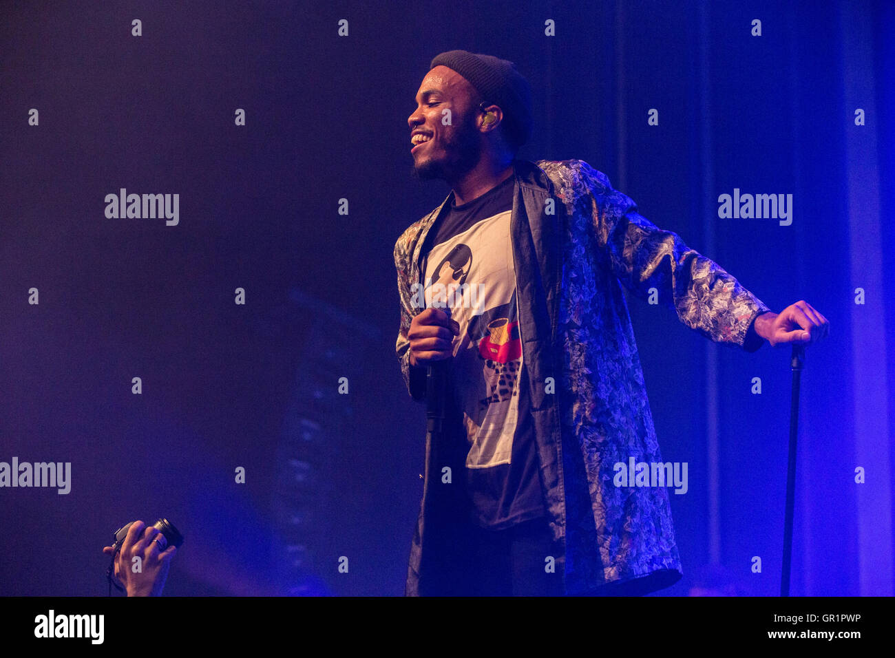 Anderson .Paak & The Free Nationals at The Vogue Theatre in Vancouver, BC on September 4th 2016 - Stock Image