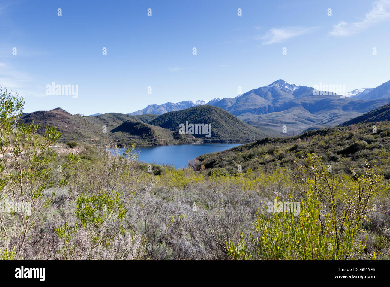 Body of Water near De Rust South Africa - De Rust is a small village at the gateway to the Klein Karoo, South Africa. - Stock Image