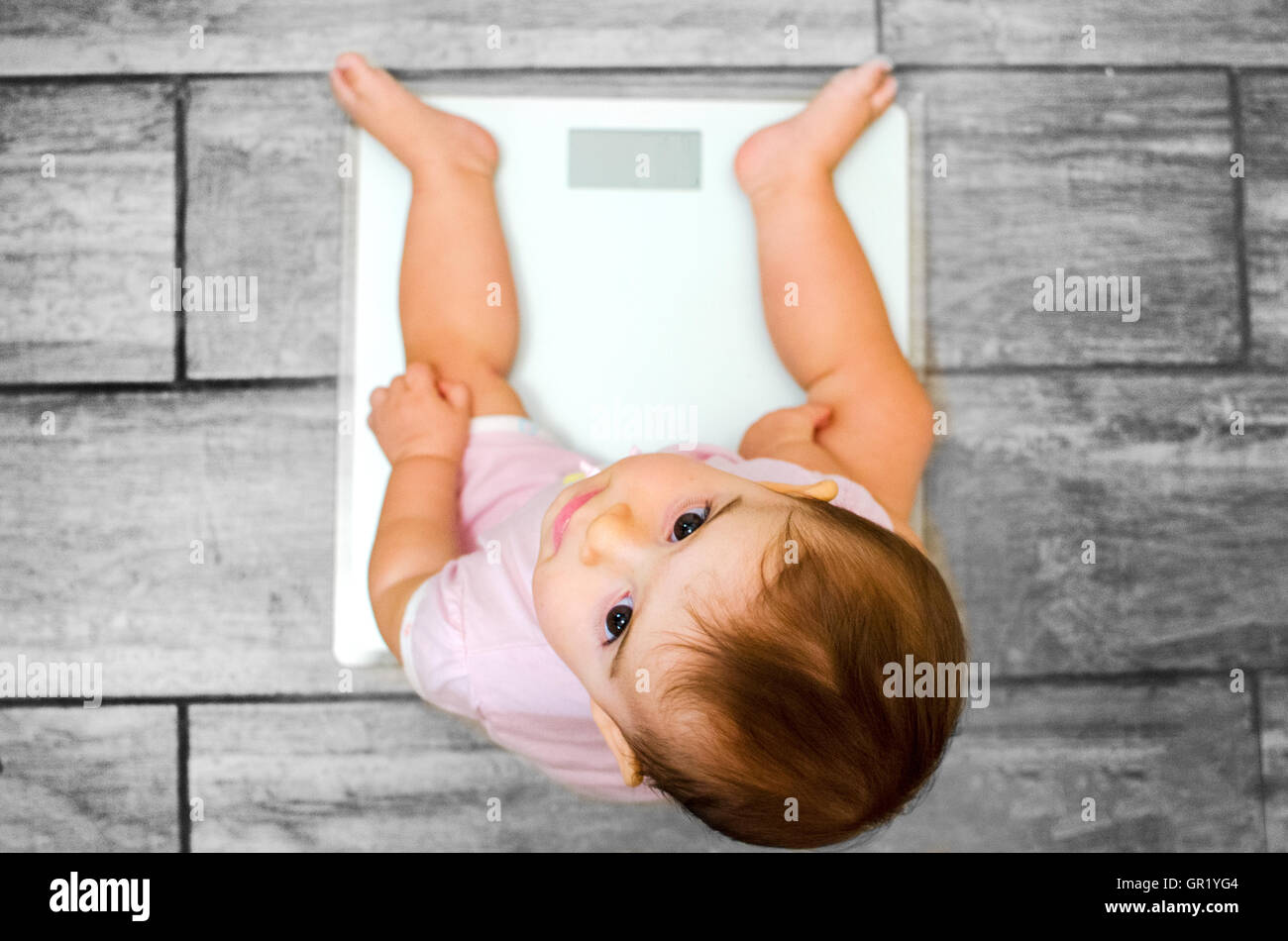 baby weight scale - Stock Image