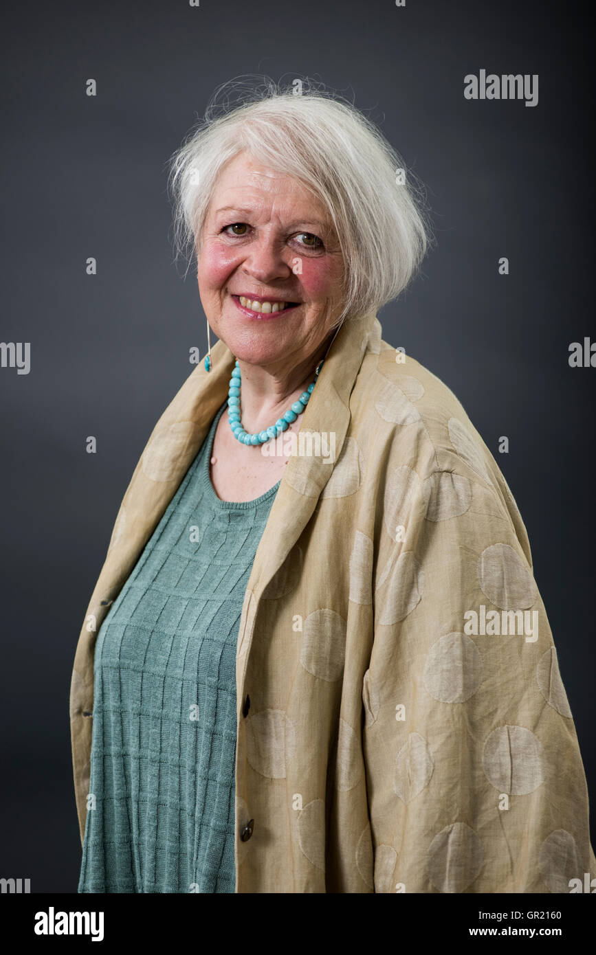 Scottish poet, playwright, translator and broadcaster Liz Lochhead. - Stock Image