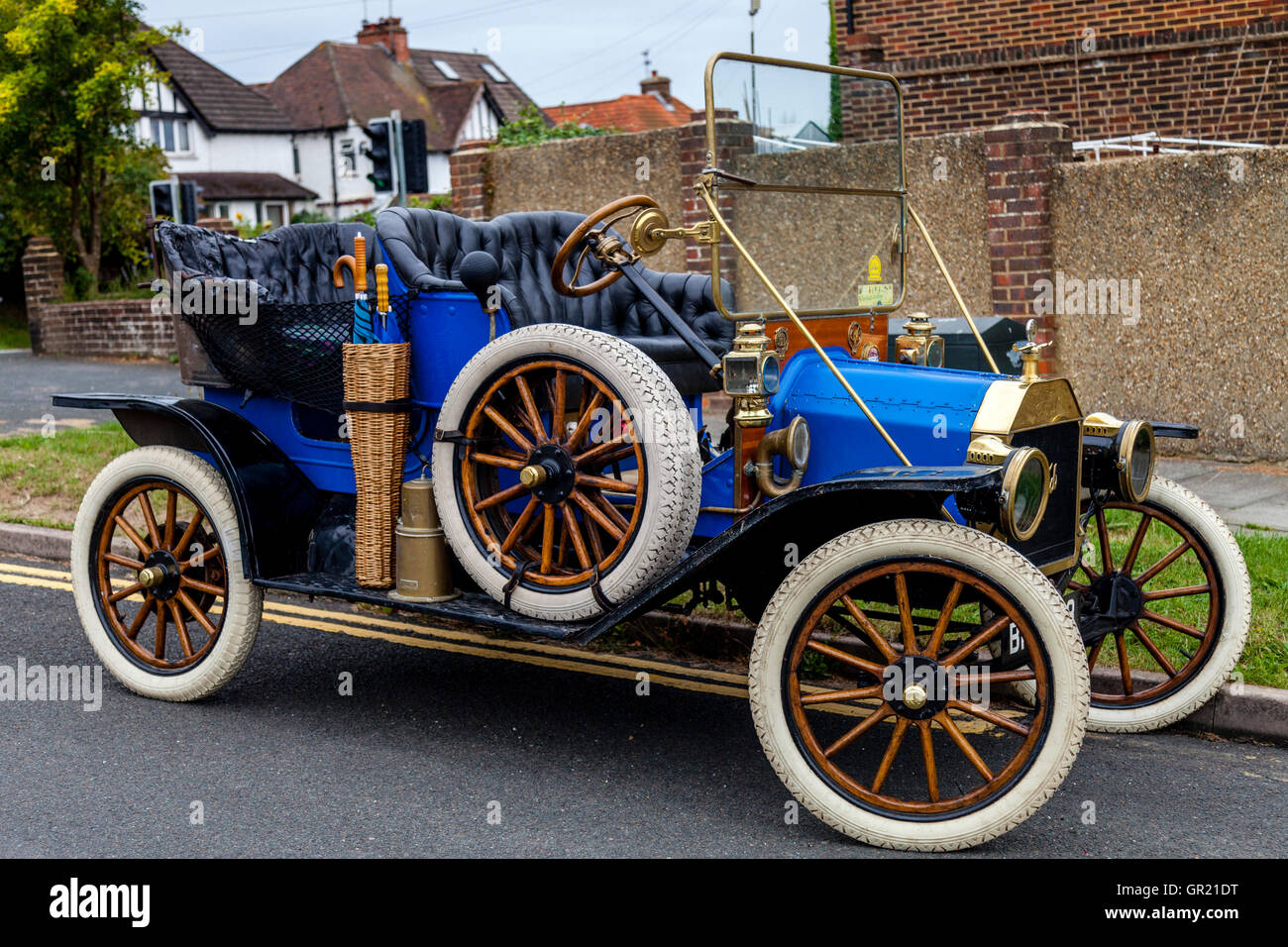 Model T Ford Vintage Car Parked On The Street, Brighton, Sussex, UK - Stock Image