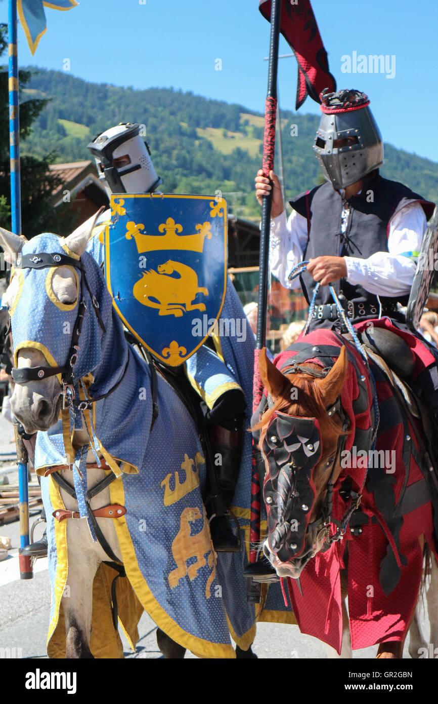 Medieval fest in Praz-sur-Arly (Savoie) - Stock Image