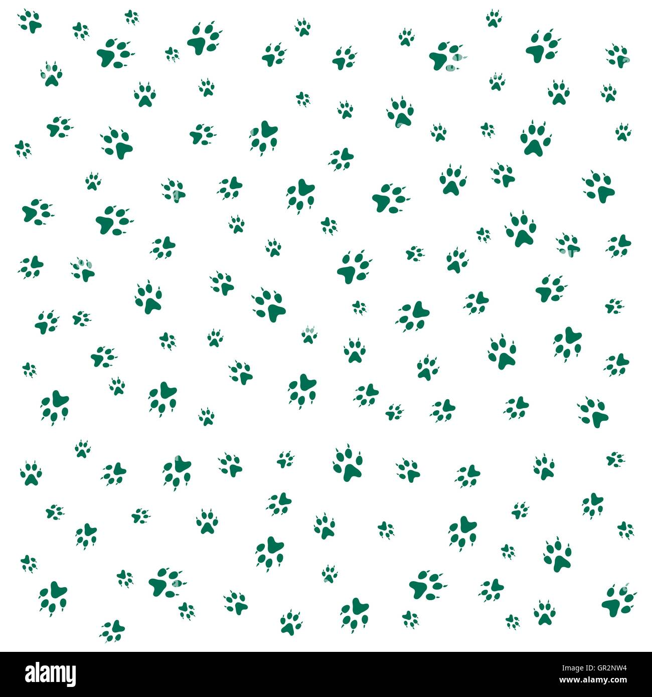 Nice picture of wild animal traces on a white background - Stock Vector