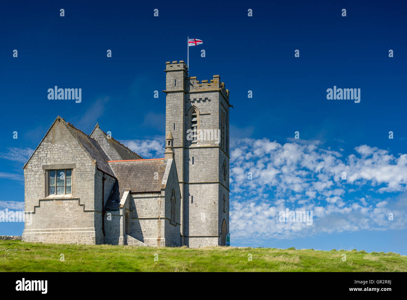Saint Helen's Church Lundy - Stock Image