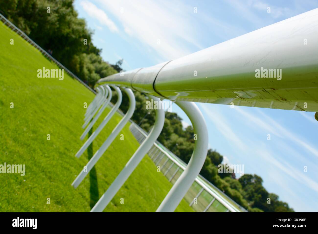 Fence at a horse race track - Stock Image
