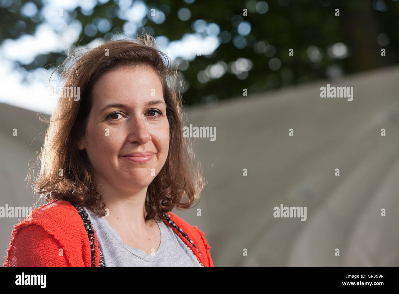 Hadley Clare Freeman, the American journalist and feature writer, at the Edinburgh International Book Festival. - Stock Image