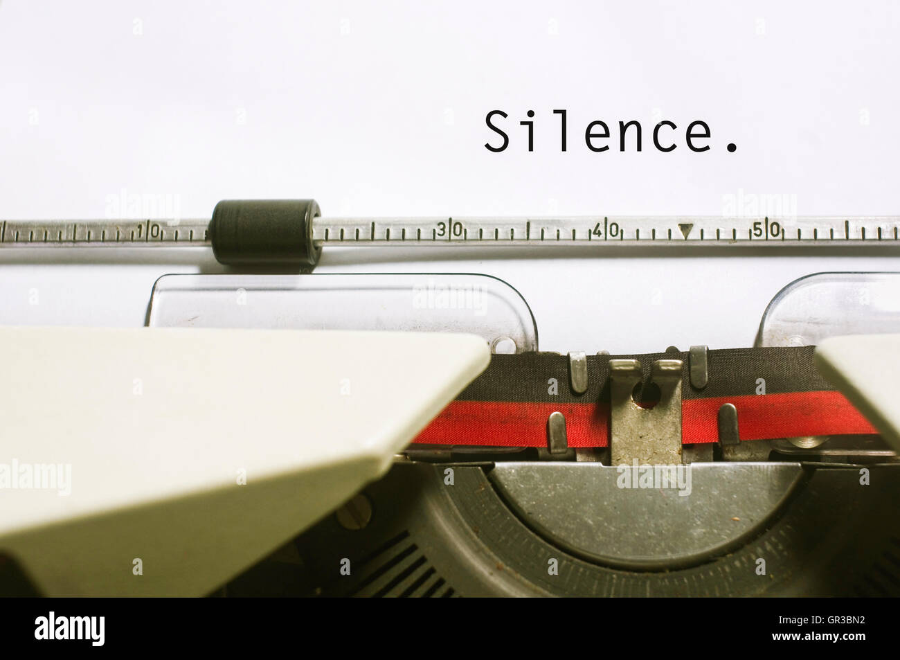 silence concepts - Stock Image