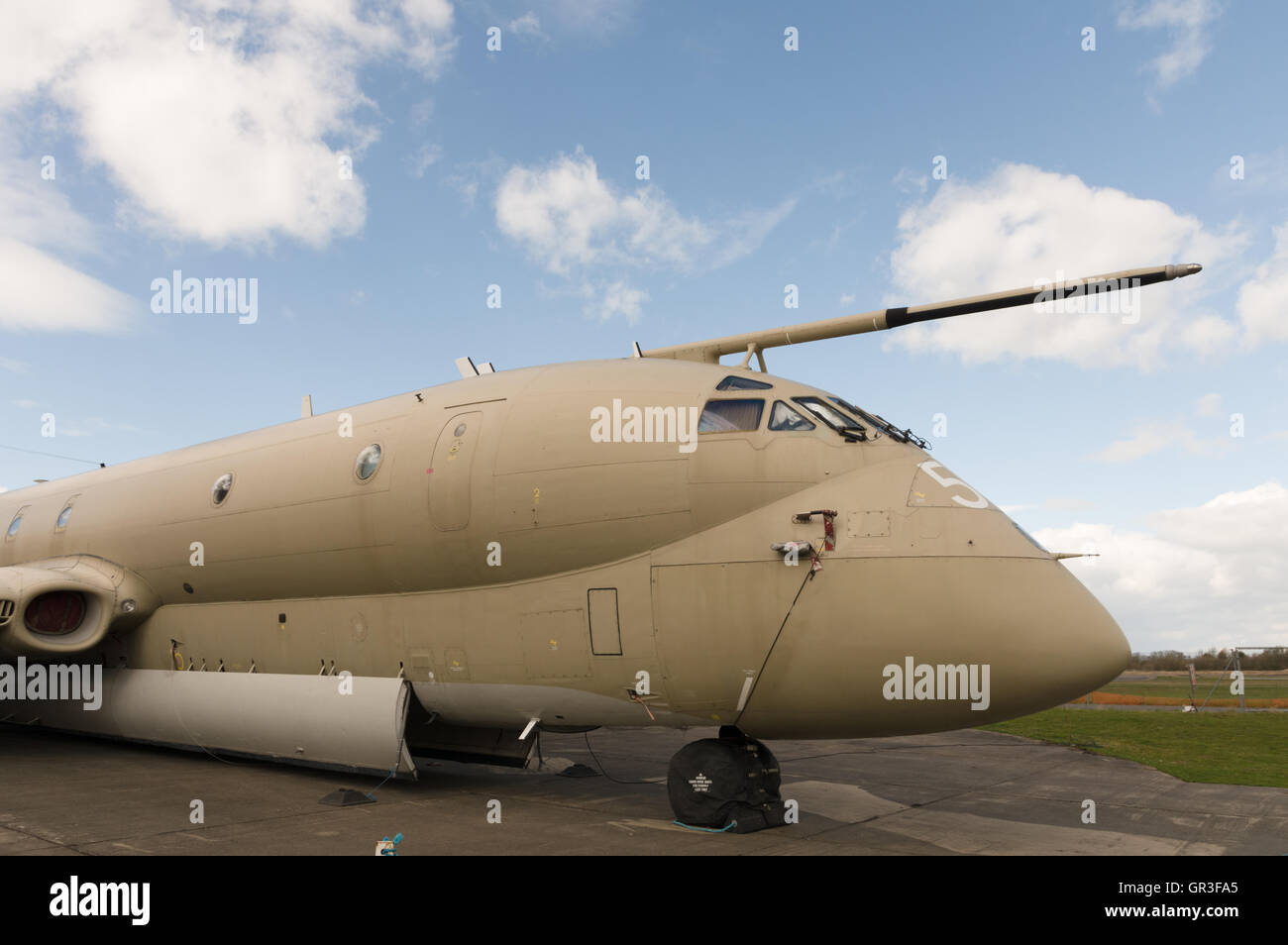 The Hawker Siddeley Nimrod was a maritime patrol aircraft developed and operated by the United Kingdom - Stock Image