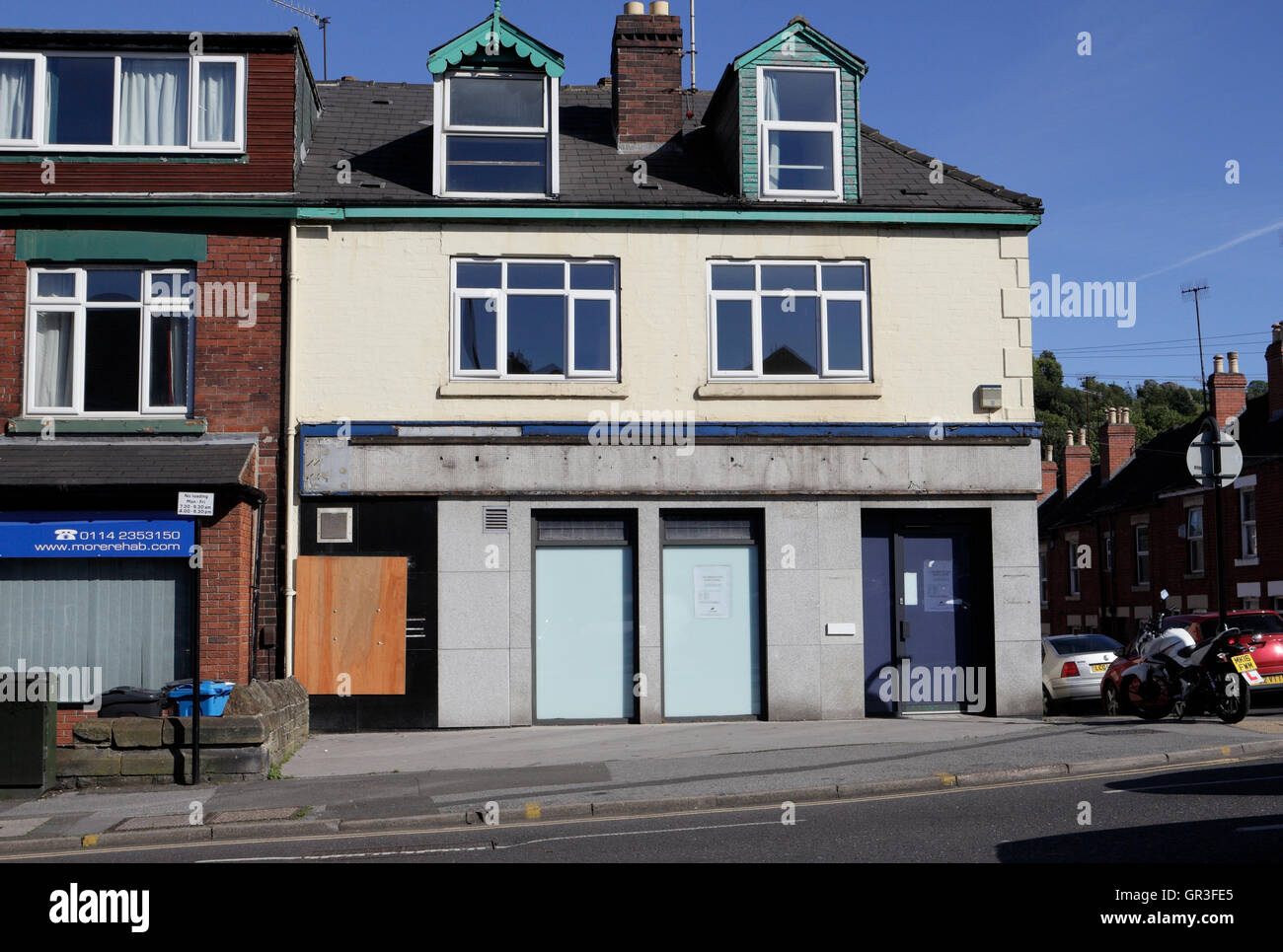 Lloyds bank Abbeydale road Sheffield now closed - Stock Image