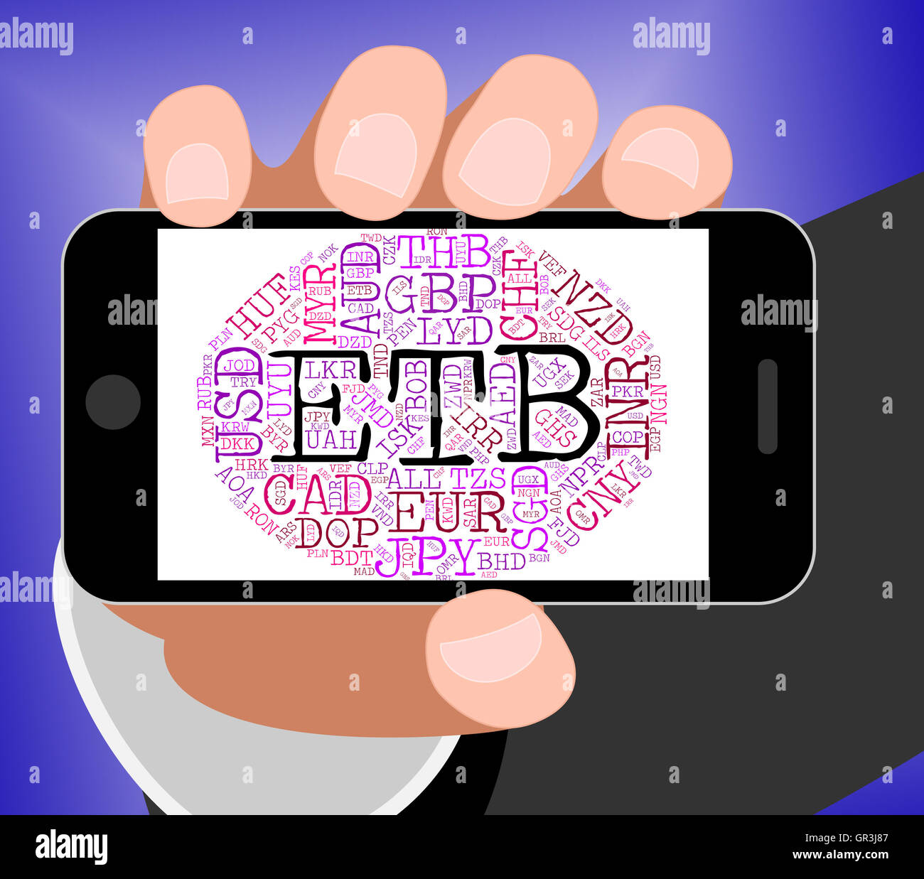 Etb Currency Meaning Ethiopian Birr And Foreign Stock Photo