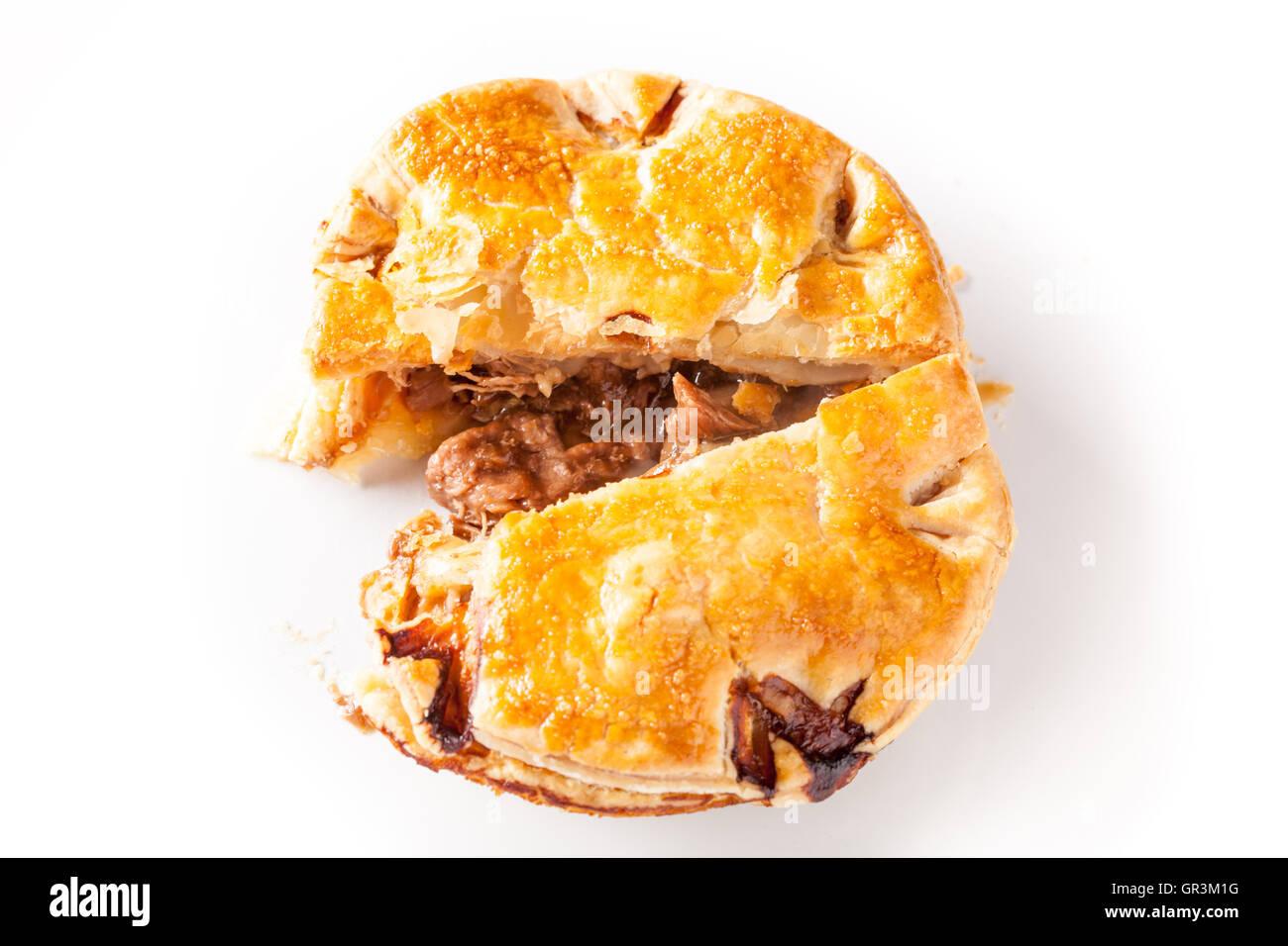 Beef Steak and Kidney Pie - Stock Image