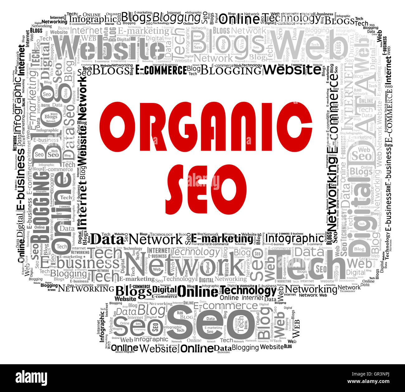 Organic Seo Showing Search Engines And Optimizing - Stock Image