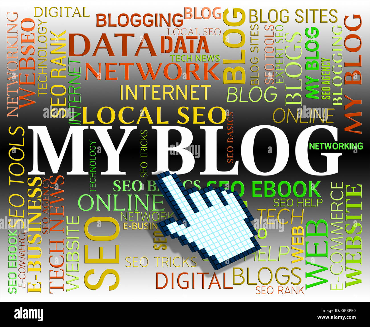 My Blog Meaning Web Site And Blogging Stock Photo   Alamy