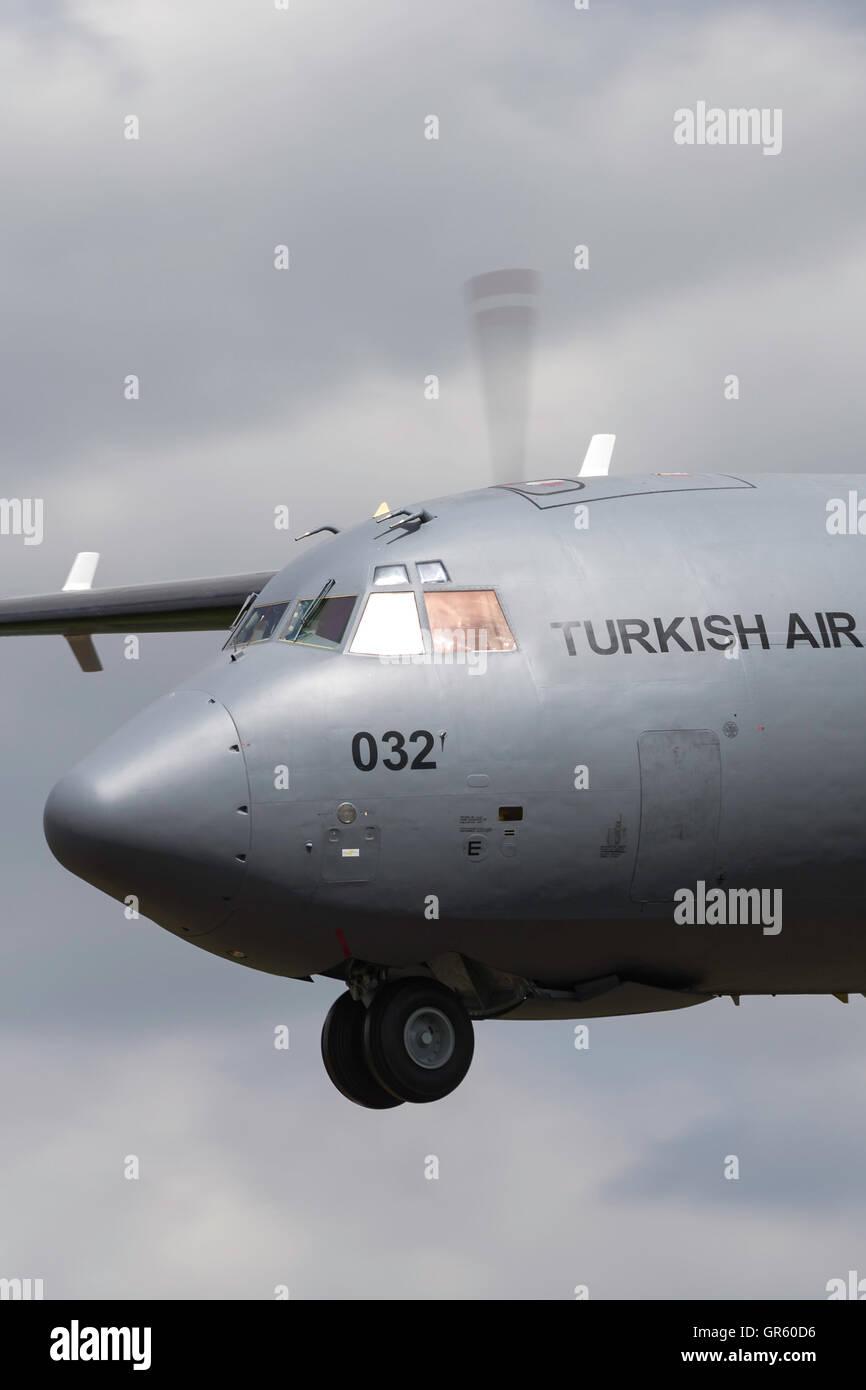 Turkish Air Force (Türk Hava Kuvvetleri) Transall C-160D transport aircraft 69-032 - Stock Image