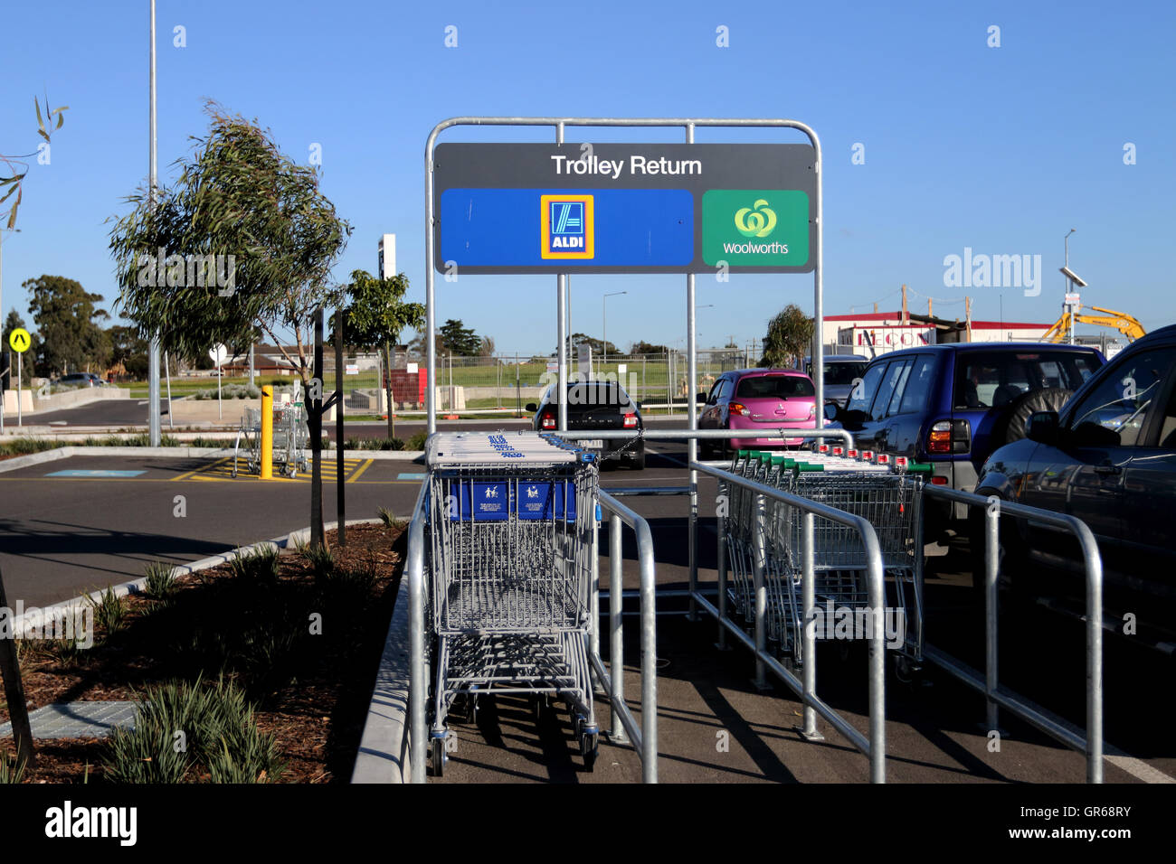Abandoned Supermarket Trolleys Stock Photos & Abandoned