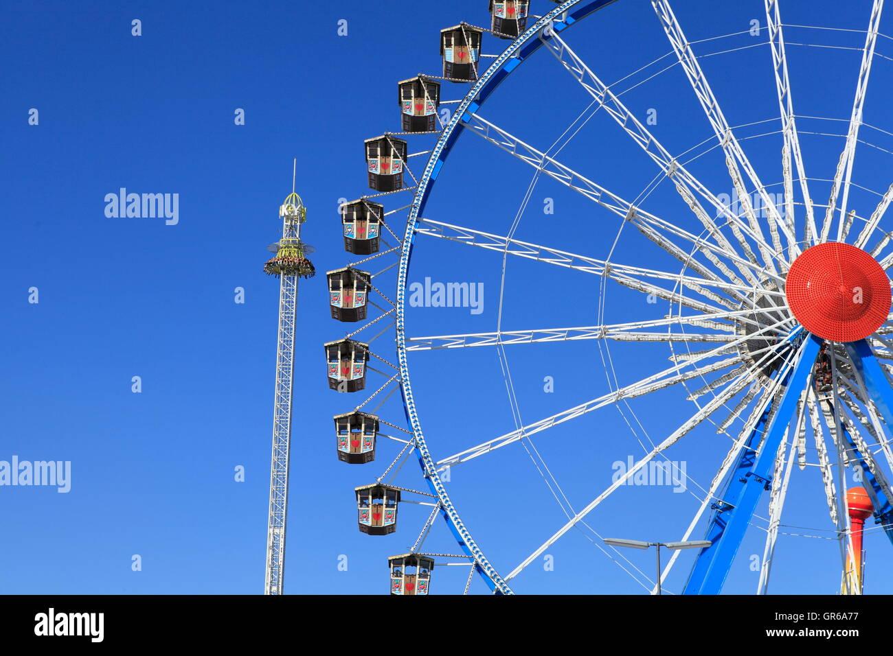 Willenborg Riesenrad, Oktoberfest, Munich, Bavaria, Germany, Europe - Stock Image
