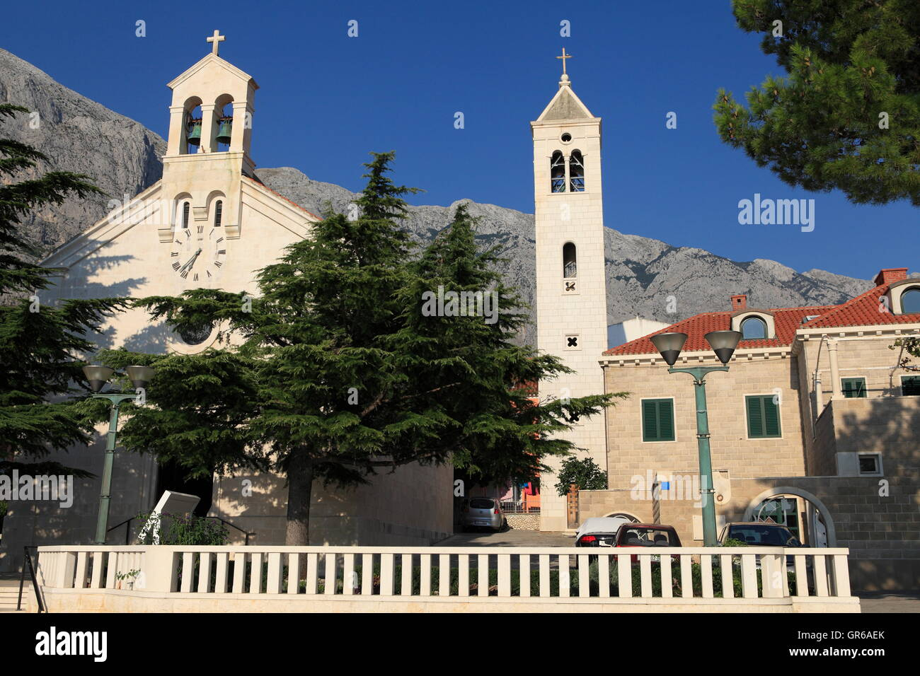 Baska Voda, Dalmatia, Croatia, Europe - Stock Image