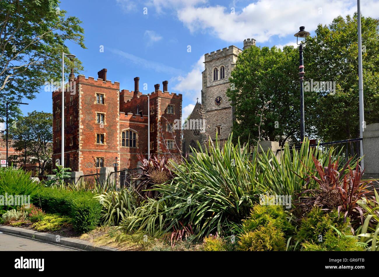 London, England, UK. Lambeth Palace - official residence of the Archbishop of Canterbury - Stock Image
