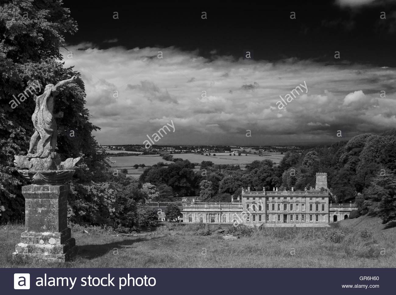 Gardens at Dyrham Park, gloucestershire, England, UK - Stock Image