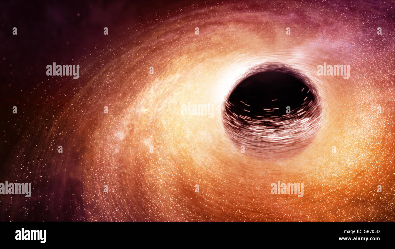 Black Hole in the Space - Stock Image