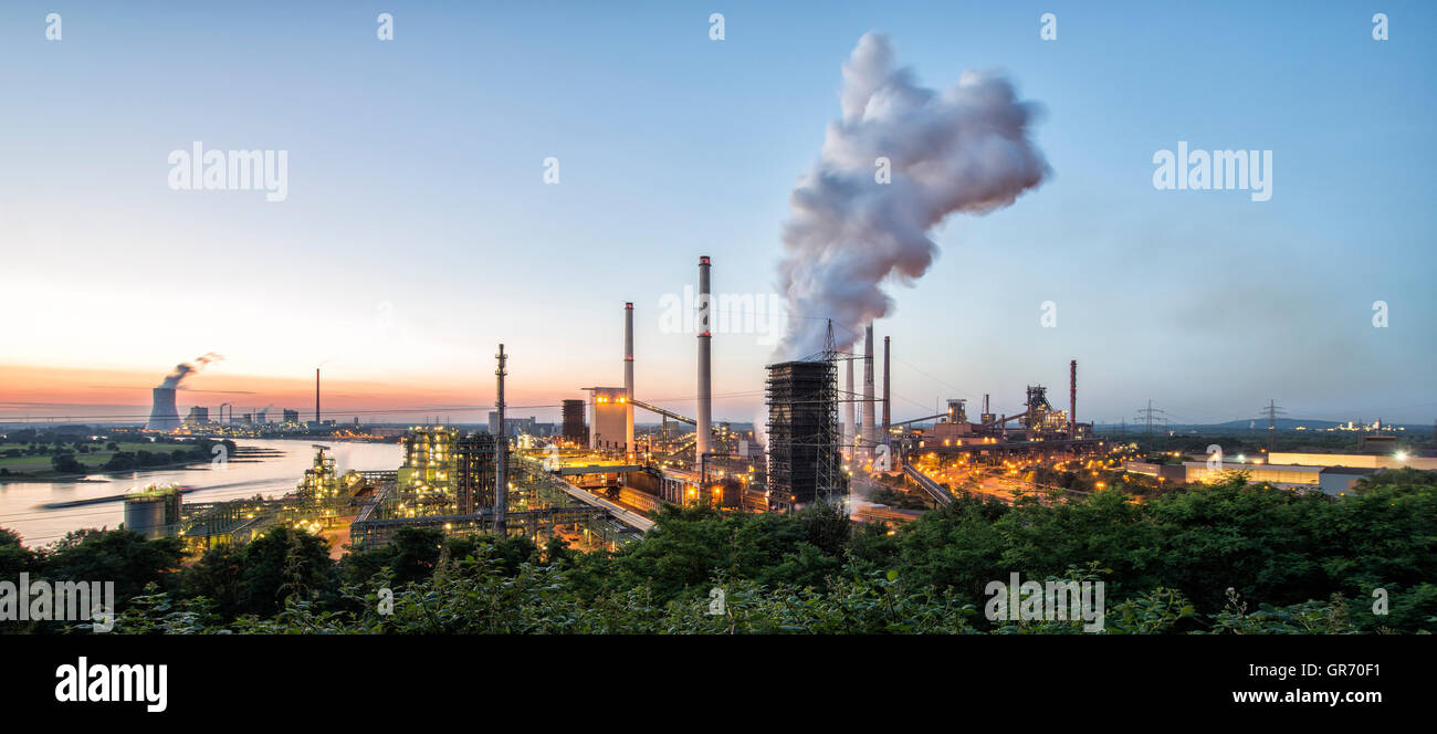 Industrial Site Duisburg - Stock Image