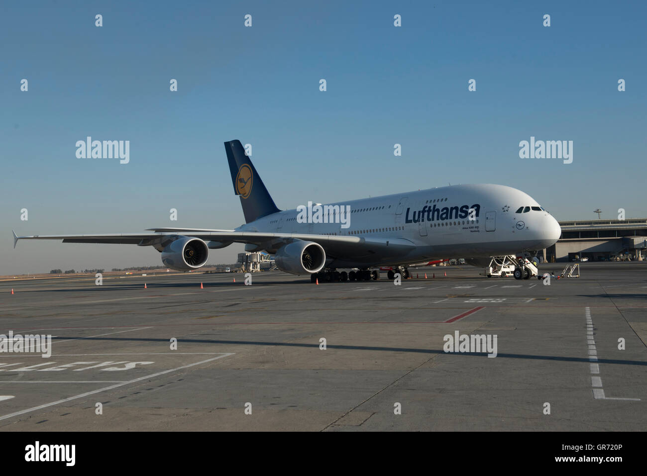 Lufthansa Airbus 300-800 at - Stock Image