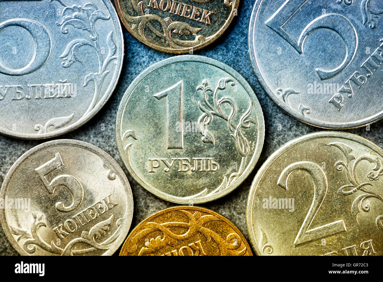 russian ruble coins stock photo 117554867 alamy