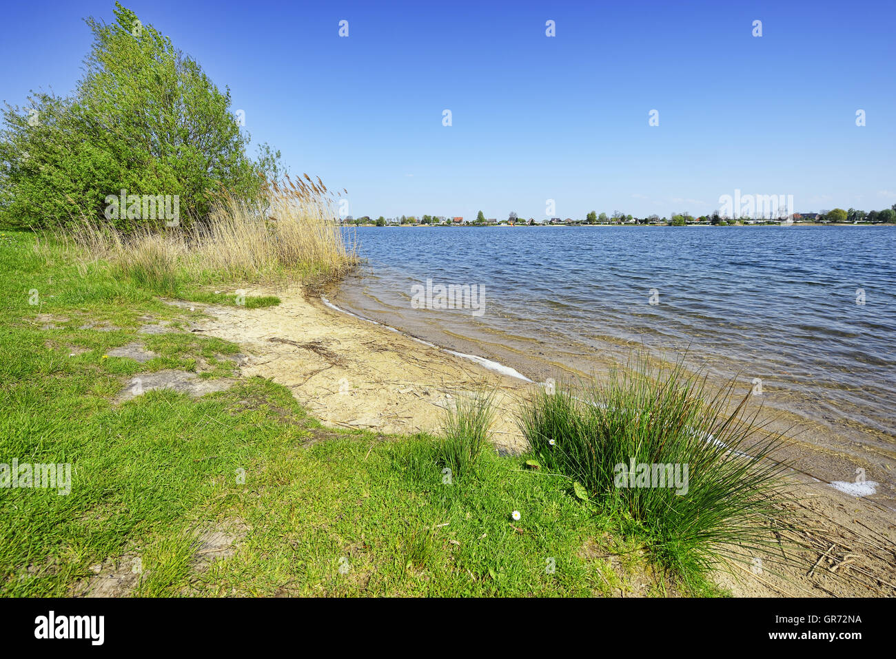 Hohendeicher Lake In Hamburg, Germany - Stock Image