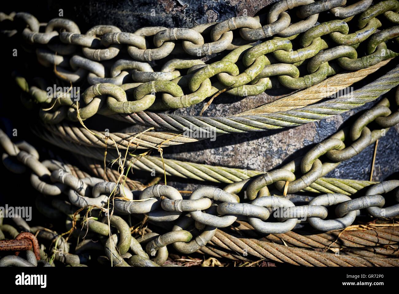 Iron Chains - Stock Image