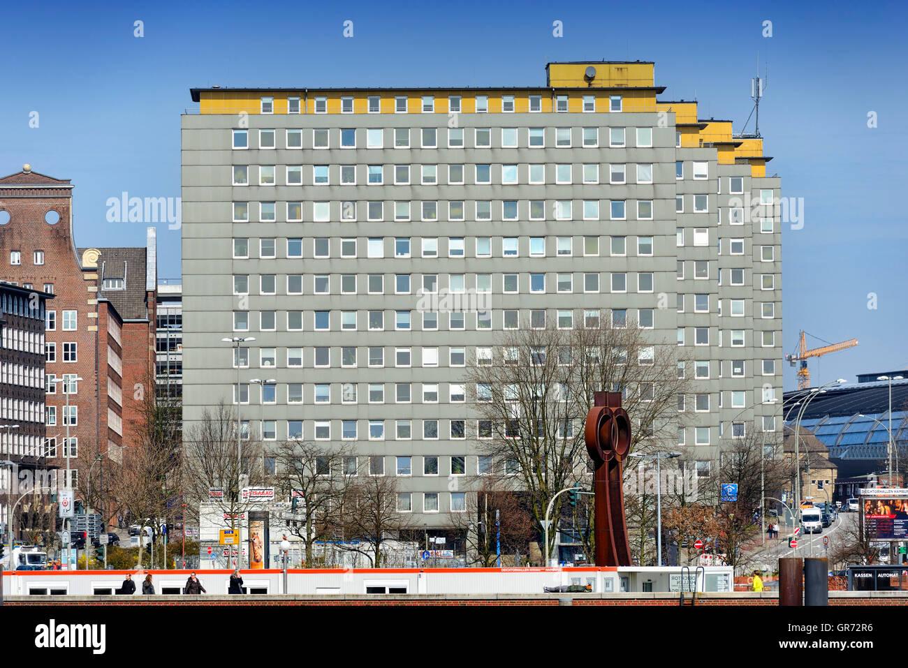 City Hof Buildings In Hamburg, Germany - Stock Image