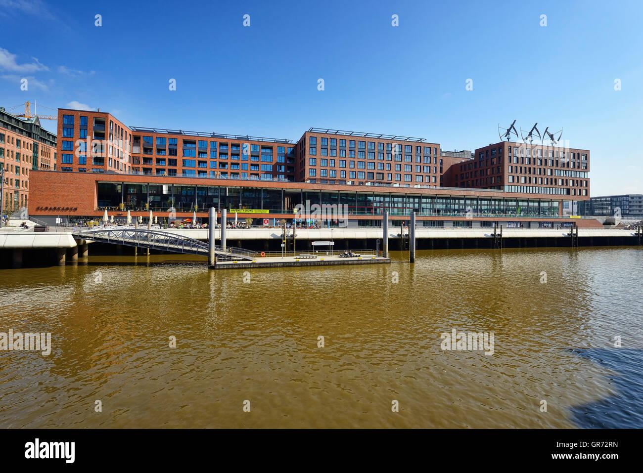 Elbarkaden Office Building In Hamburg, Germany - Stock Image