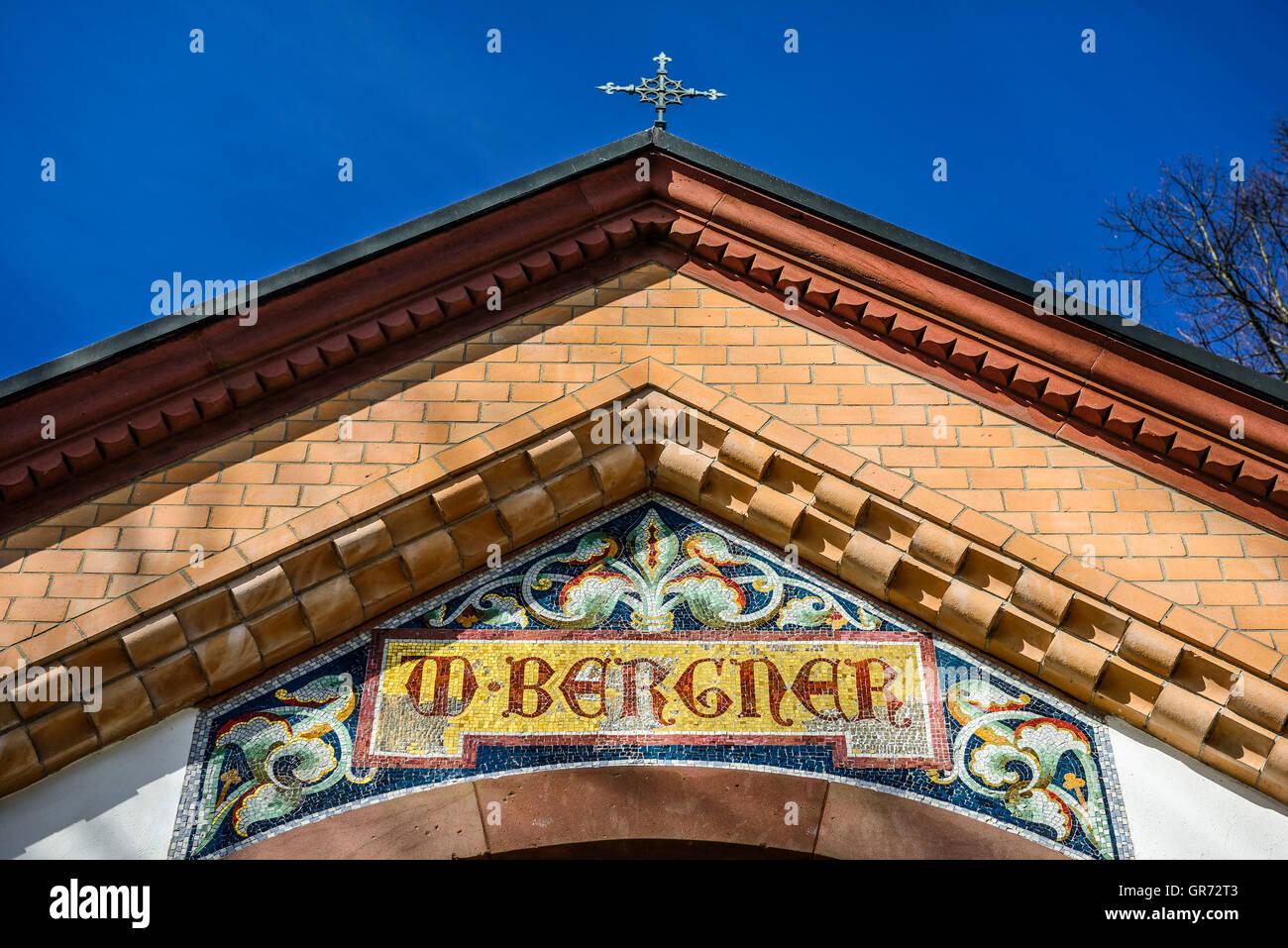 Bergner Mausoleum In Hamburg, Germany - Stock Image