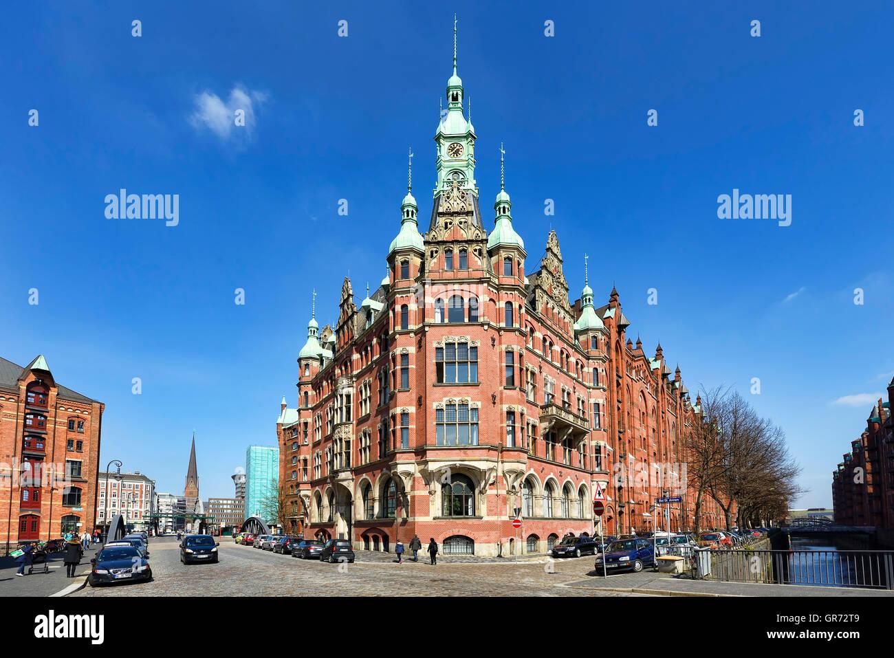 Warehouse District Speicherstadt In Hamburg, Germany - Stock Image