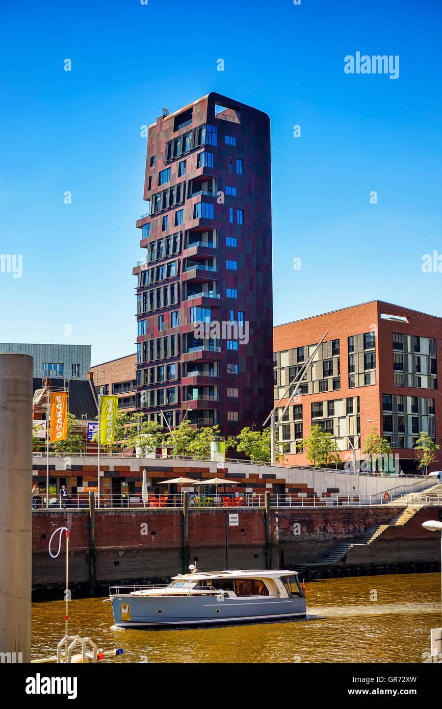 Cinnamon Tower In Hamburg, Germany - Stock Image
