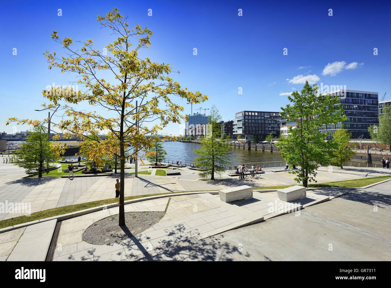 Marco Polo Terraces In Hamburg, Germany - Stock Image