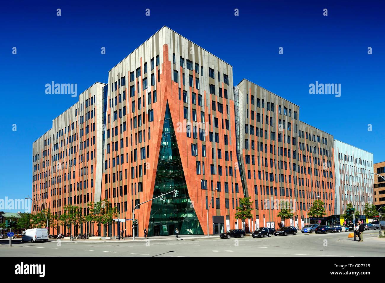 Sumatra Kontor, Modern Office Building In Hamburg, Germany - Stock Image