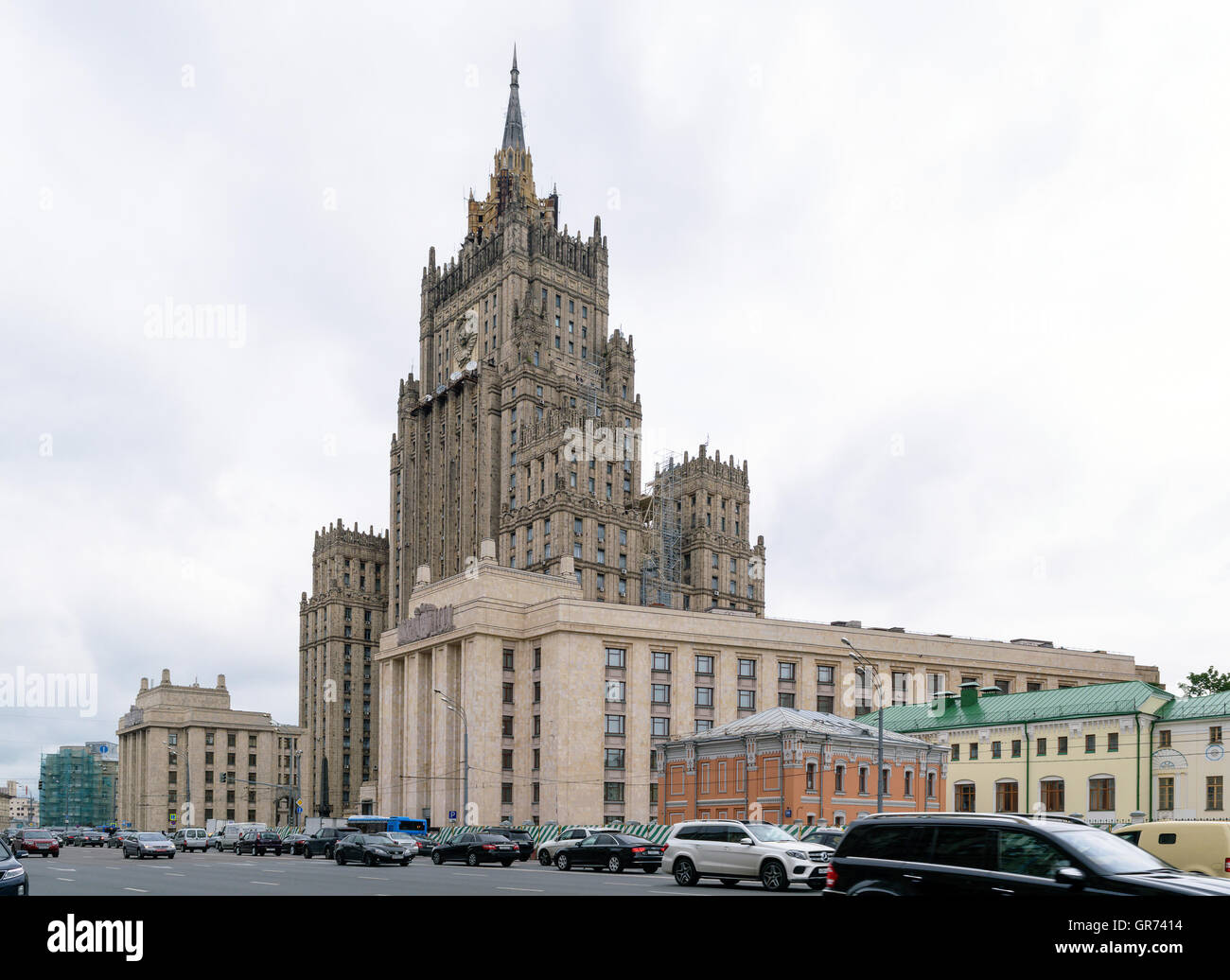 The building of the Ministry of Foreign Affairs of the Russian Federation (address: Smolensk-Sennaya Square, 32/34) - Stock Image