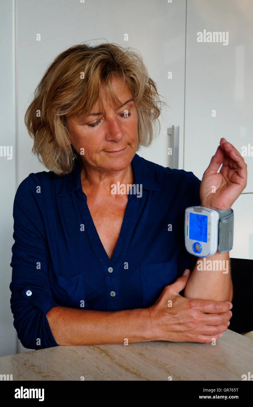 Measuring Blood Pressure - Stock Image