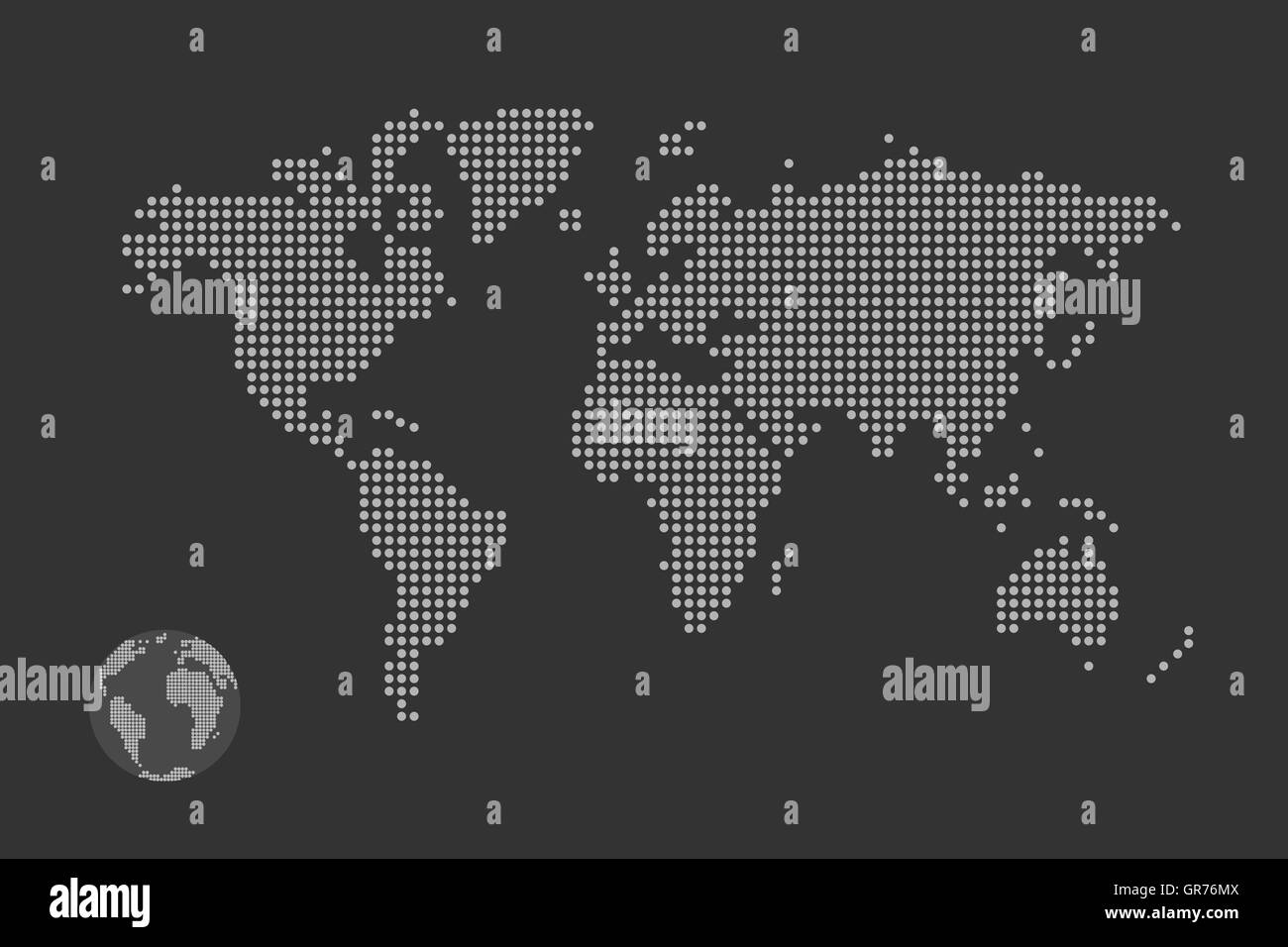 Simplified computer generated world map in black and white dots simplified computer generated world map in black and white dots vector eps 10 gumiabroncs Image collections