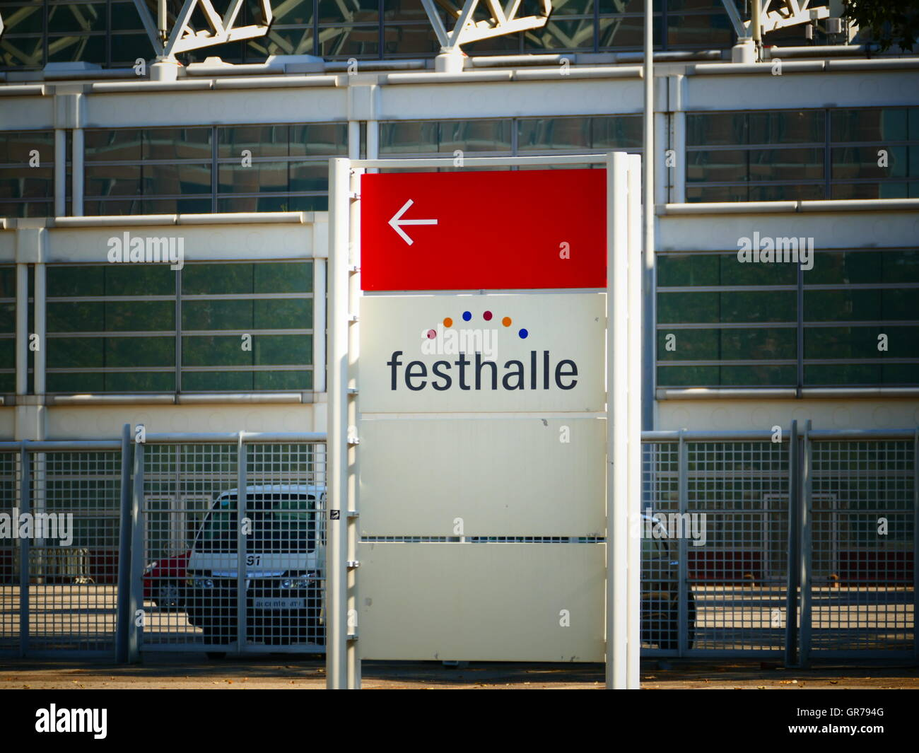 Festhalle metro station in financial city Frankfurt am Main Germany Europe Stock Photo