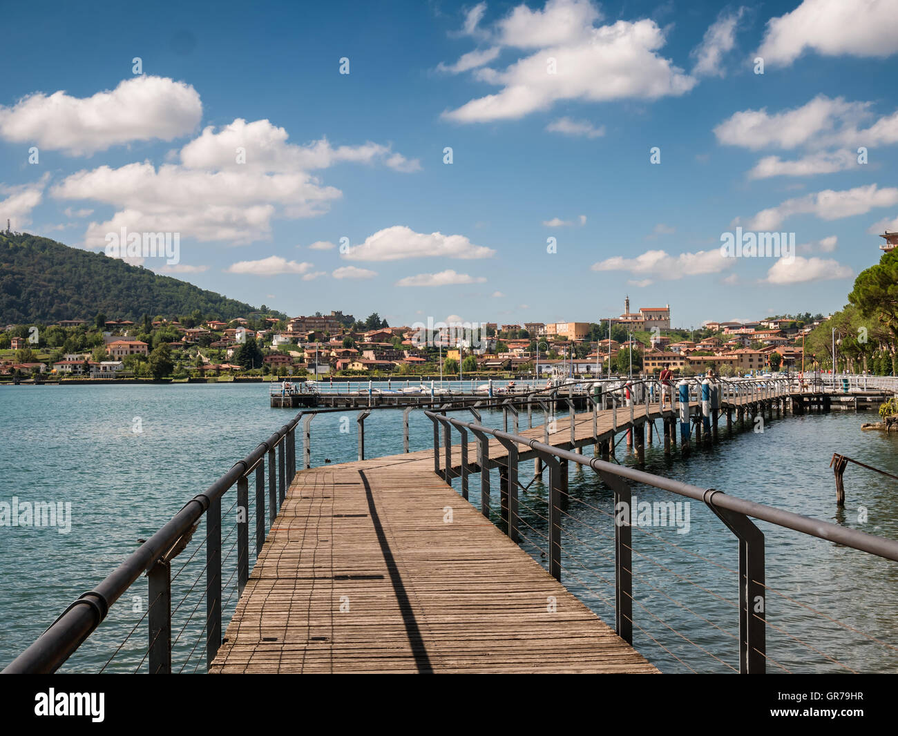 Sarnico village at the lakeside of lake Iseo in Italy Stock Photo