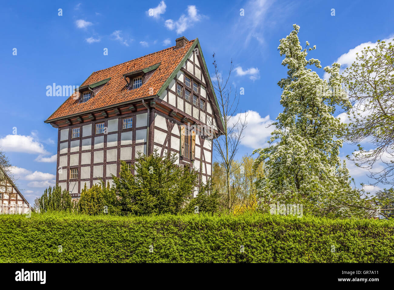 timbered house in bad essen stock photos timbered house in bad essen stock images alamy. Black Bedroom Furniture Sets. Home Design Ideas