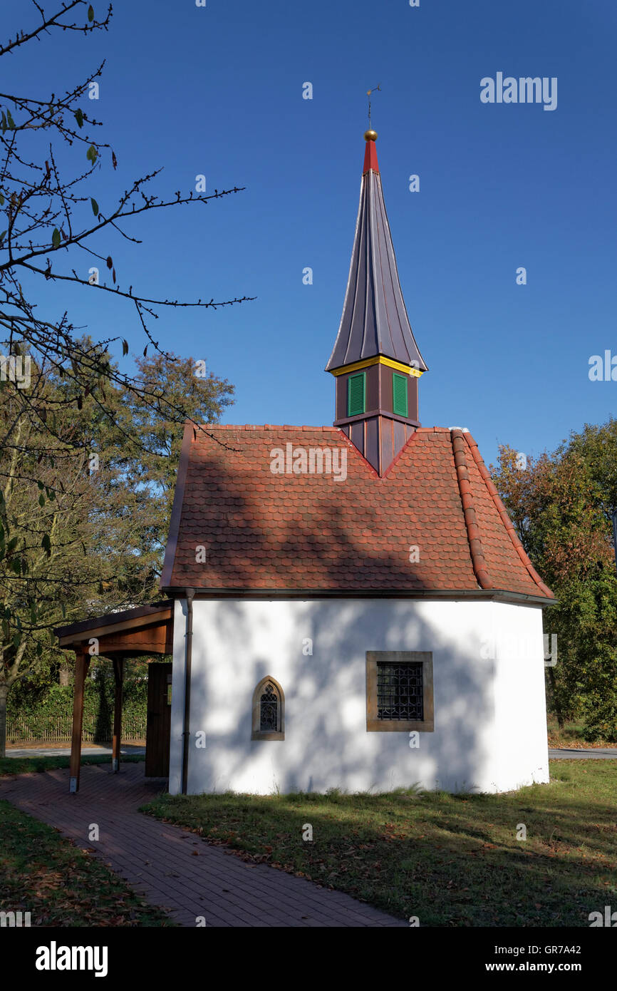 The Chapel To The Seven Pains Of Marien In Hagen On The Teutoburg Forest,Area Gellenbeck In The Osnabrück Country,Was - Stock Image