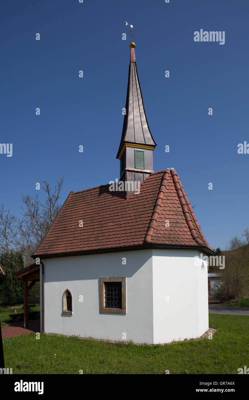 The Chathe Chapel To The Seven Pains Of Marien In Hagen On The Teutoburg Forest,Area Gellenbeck In The Osnabrueck - Stock Image