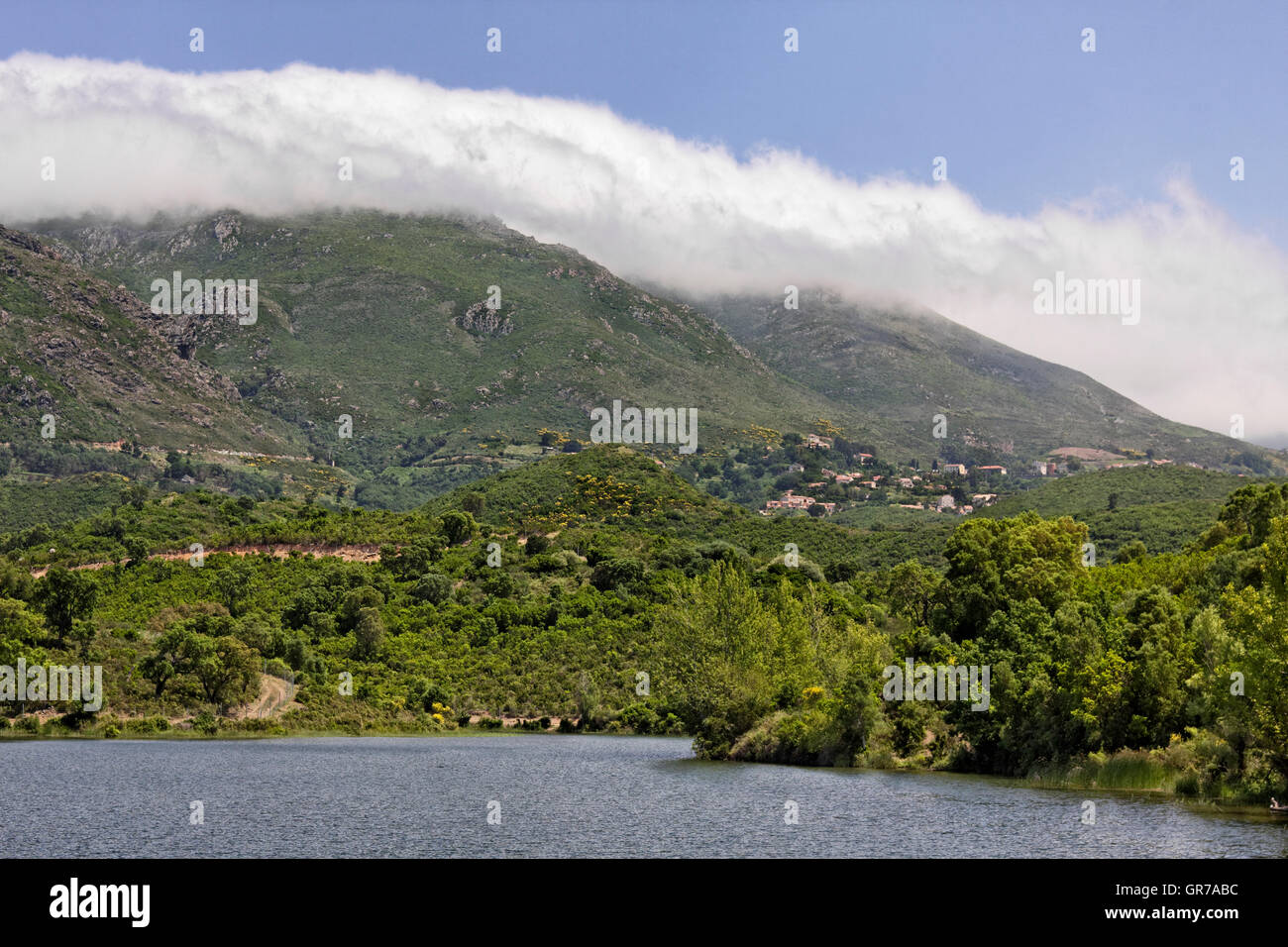 Lac De Padula Padula Lake Near The Mountain Village Oletta In The Nebbio Region, Northern Corsica, France, Europe Stock Photo