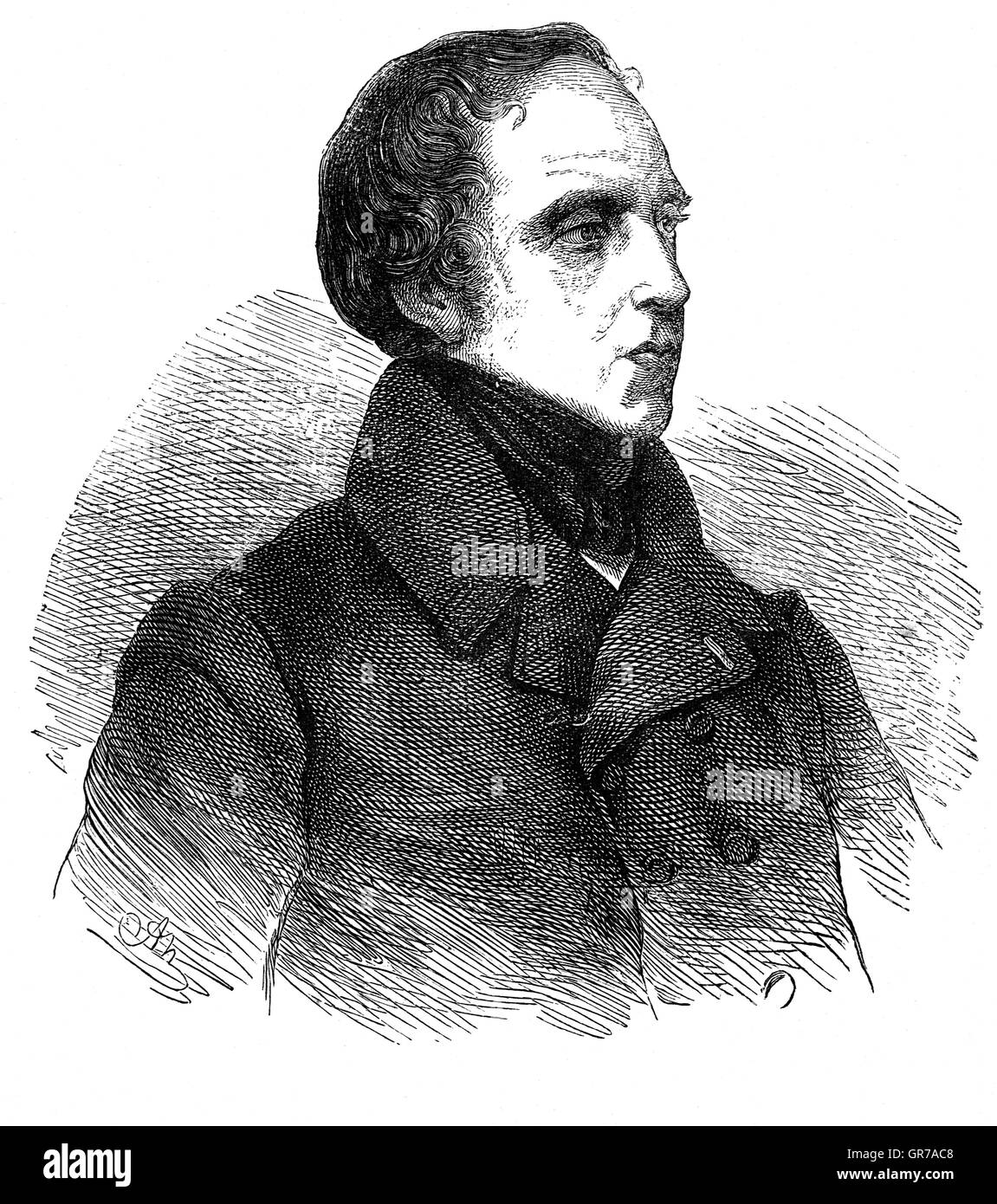 François Pierre Guillaume Guizo (1787 – 1874) was a French historian, orator, and statesman. A dominant figure - Stock Image