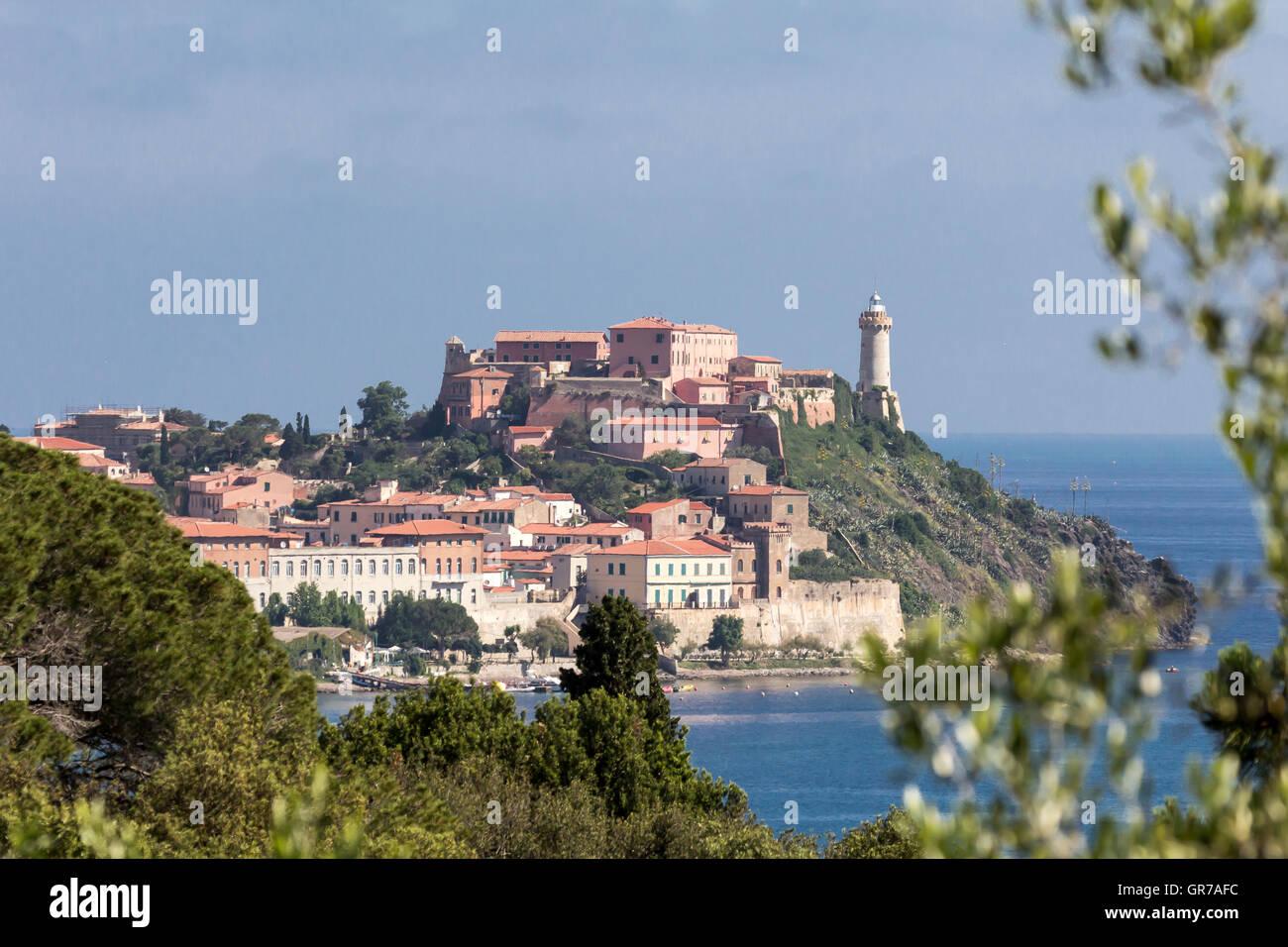 Portoferraio, Star Fort Forte Stella On Elba Island, Tuscany, Italy, Europe - Stock Image