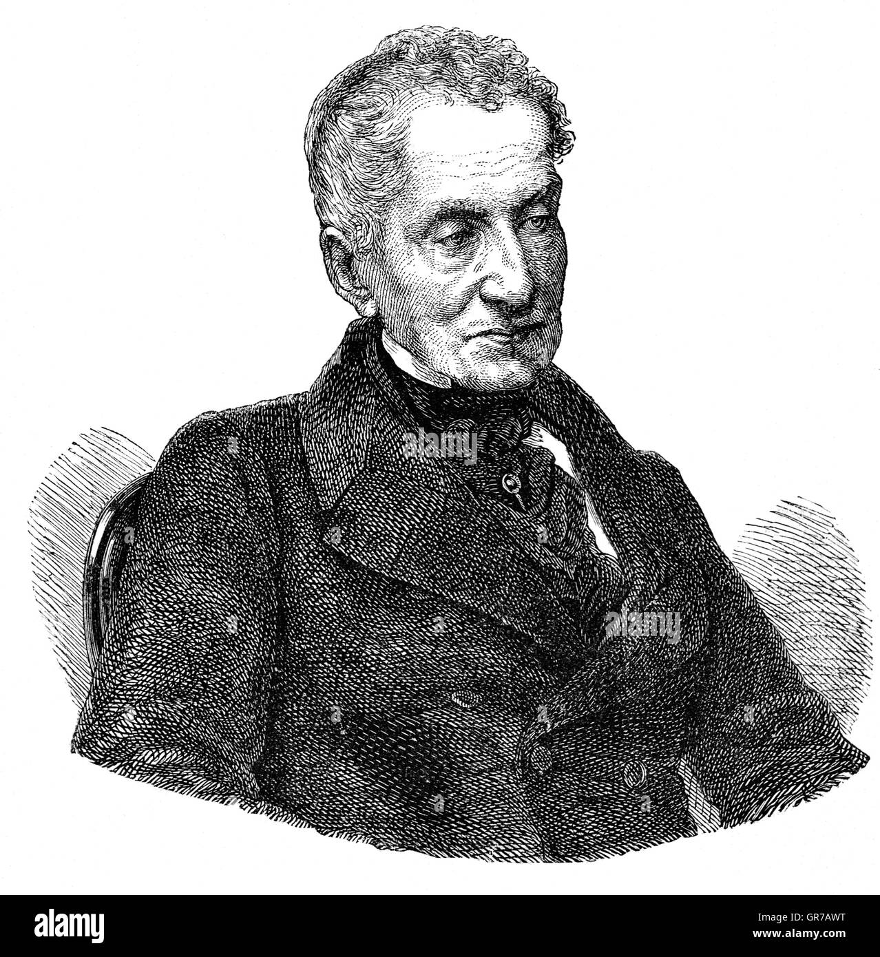 Prince Klemens Wenzel von Metternich (1773 – 1859) was a politician, statesman and one of the most important diplomats - Stock Image