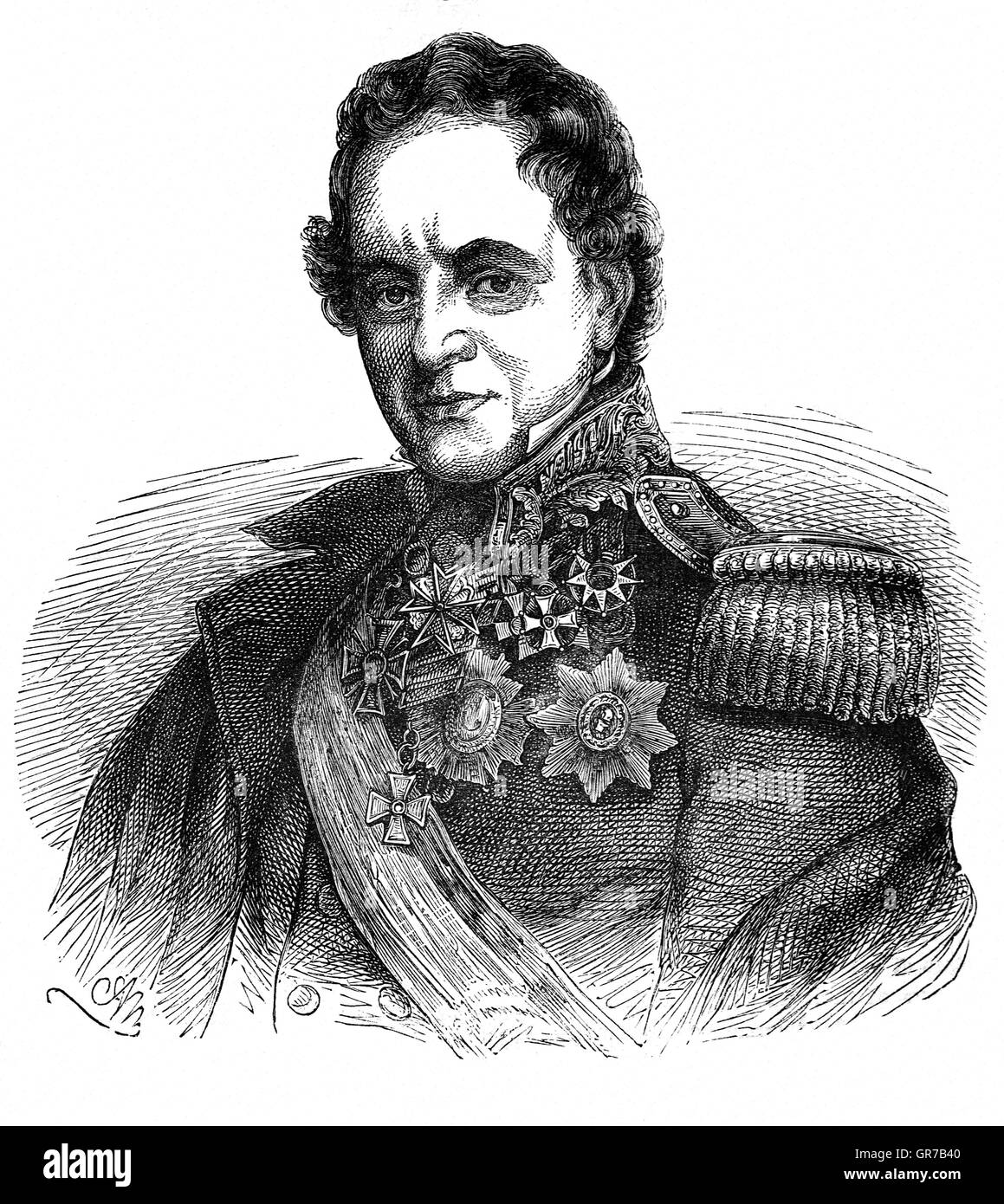 Field Marshal Henry Hardinge, (1785 – 1856) was a British Army officer and politician. After serving in the Peninsula - Stock Image